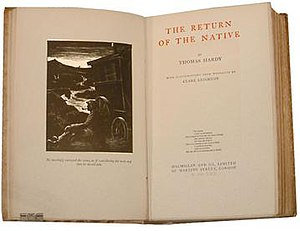The Return of the Native - Title page, Macmillan edition, 1929