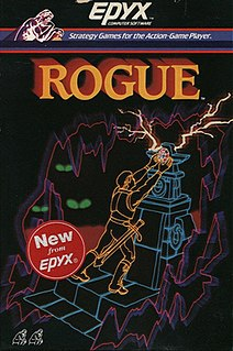 <i>Rogue</i> (video game) 1980 video game