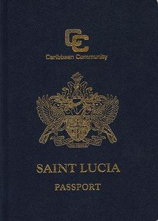 Saint Lucian passport passport