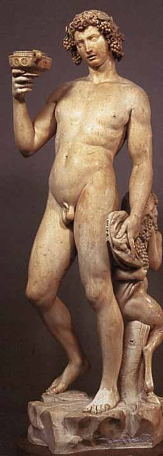 The Acharnians - The tipsy god: sculpture by Michelangelo. The Dramatis Personae in ancient comedy depends on interpretation of textual evidence. This list is based on Alan Sommerstein's translation.