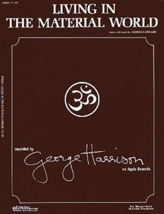"""Living in the Material World (song) - Image: Sheet music cover for George Harrison song """"Living in the Material World"""""""