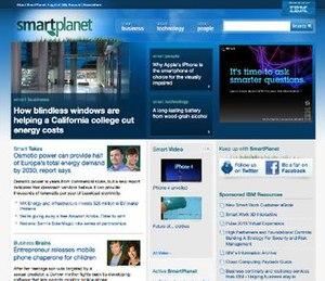 SmartPlanet - SmartPlanet's homepage in 2010.