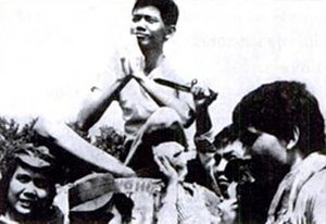 Soe Hok Gie - Soe at a rally on Mount Pangrango (1967)