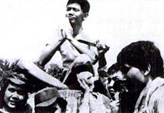 Soe Hok Gie - Soe at a rally on Mount Pangrango (1967)