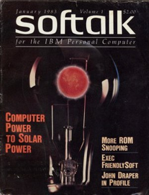 Softalk - cover of IBM PC version of Softalk magazine