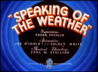<i>Speaking of the Weather</i> 1937 film by Frank Tashlin