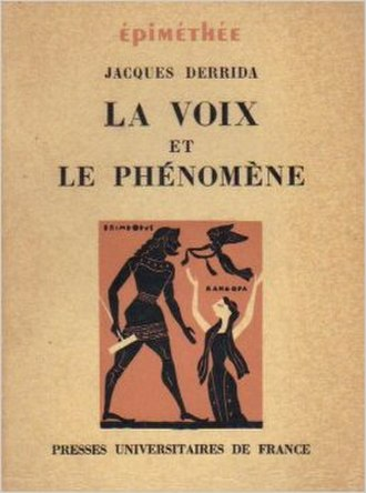 Speech and Phenomena - Cover of the first edition