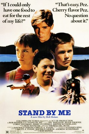 Stand by Me (film) - American theatrical release poster, August 1986