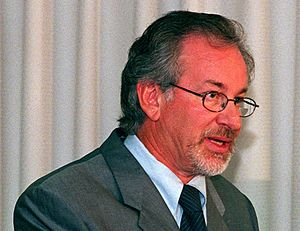 Cropped image of Steven Spielberg