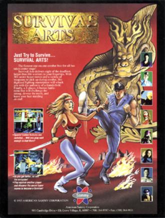 Survival Arts - North American arcade flyer of Survival Arts.