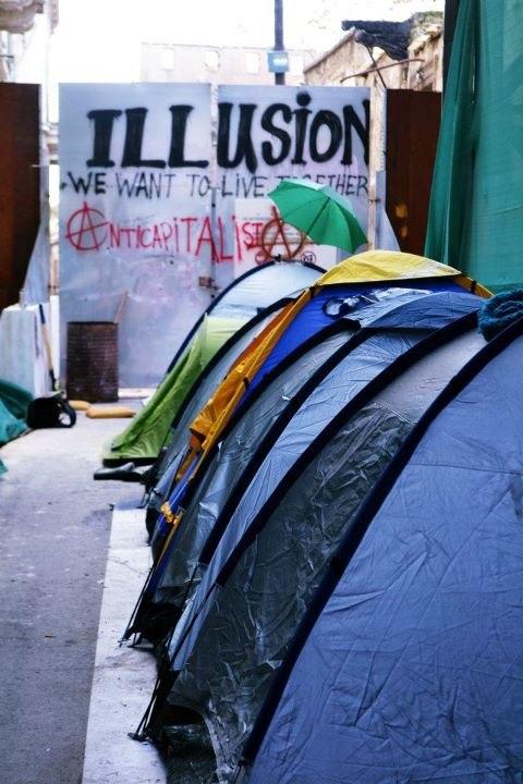 Tents occupybufferzone