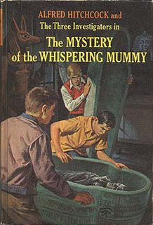 <i>The Mystery of the Whispering Mummy</i> third book in The Three Investigators series by Robert Arthur, Jr. (1965)