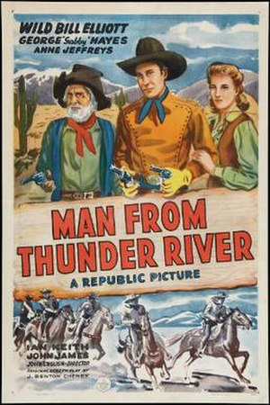 The Man from Thunder River - Theatrical release poster