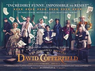 <i>The Personal History of David Copperfield</i> 2020 film directed by Armando Iannucci