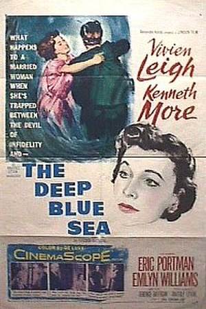 The Deep Blue Sea (1955 film) - Theatrical release poster