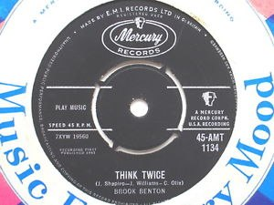 Think Twice (Brook Benton song) - Image: Think Twice (Brook Benton song)