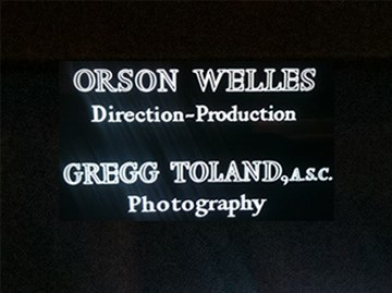 Title Card for Citizen Kane