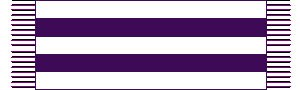 Wampum - A representation of the original Two Row Wampum treaty belt.