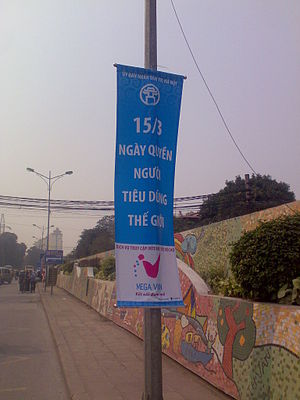 Consumers International - WCRD's poster at Hanoi