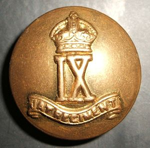 Jat Regiment - A World War I (1914-1918) Jat Army Officer's Brass Button - from the famous 9th JAT Regiment an elite-fighting Unit of the Jat Regiment