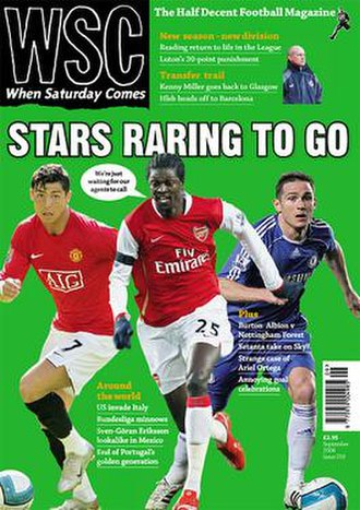 When Saturday Comes - September 2008 front cover, featuring Cristiano Ronaldo, Emmanuel Adebayor and Frank Lampard