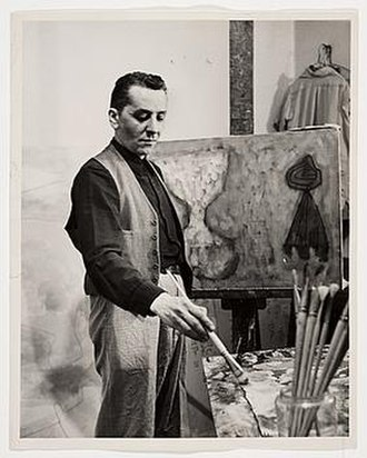 William Baziotes - William Baziotes, ca. 1947, Francis Lee, photographer. William and Ethel Baziotes papers, Archives of American Art, Smithsonian Institution.