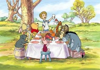 A Winnie the Pooh Thanksgiving - Screenshot of the dinner scene