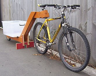 Bicycle trailer - Wooden bicycle trailer