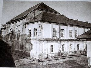 Zamość Synagogue - The exterior before the fortress style parapet was added.