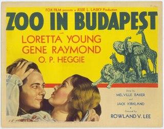 <i>Zoo in Budapest</i> 1933 film by Rowland V. Lee