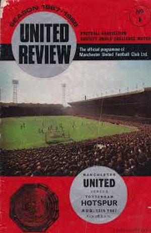 1967 FA Charity Shield - The match programme cover