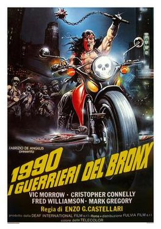 1990: The Bronx Warriors - Italian theatrical release poster by Enzo Sciotti