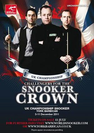 2011 UK Championship (snooker) - Image: 2011 UK Championship (snooker) poster