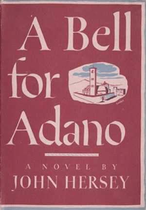 John Hersey - A Bell for Adano first edition cover (1944)