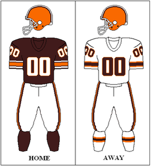 1984 Cleveland Browns season - Image: AFC Throwback 1984 Uniform CLE