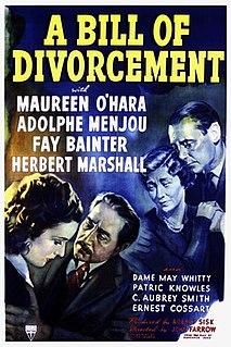 <i>A Bill of Divorcement</i> (1940 film) 1940 film by John Farrow
