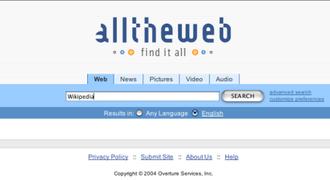 AlltheWeb - Image: Alltheweb