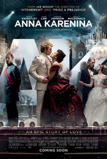<i>Anna Karenina</i> (2012 film) 2012 film by Joe Wright