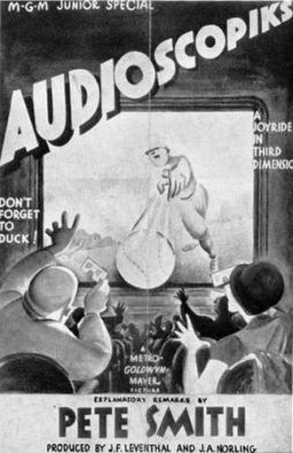 Pete Smith (film producer) - Poster for his 1936 short subject Audioscopiks