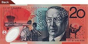 Australian twenty-dollar note - Image: Australian $20 polymer back