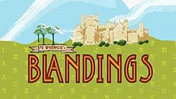 Alt=series titles over image of Blandings