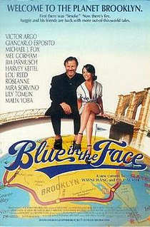 <i>Blue in the Face</i> 1995 film by Paul Auster, Wayne Wang