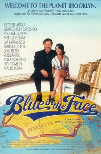 Blue in the Face - Promotional movie poster