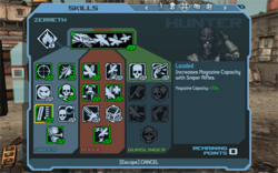 A user interface in Borderlands, rendered using Scaleform GFx
