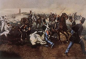 José de San Martín - José de San Martín, trapped under his dead horse during the battle of San Lorenzo, is saved by Juan Bautista Cabral.