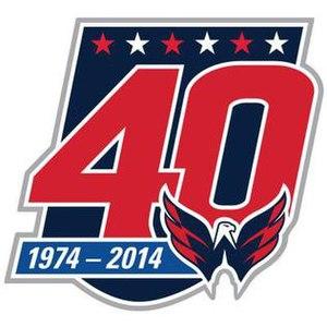 2014–15 Washington Capitals season - The Washington Capitals 40th Anniversary patch