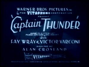 Captain Thunder (film) - Image: Captain Thunder 1930 Title Card