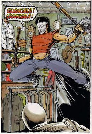 Casey Jones (Teenage Mutant Ninja Turtles) - Casey Jones Art by Kevin Eastman and Peter Laird
