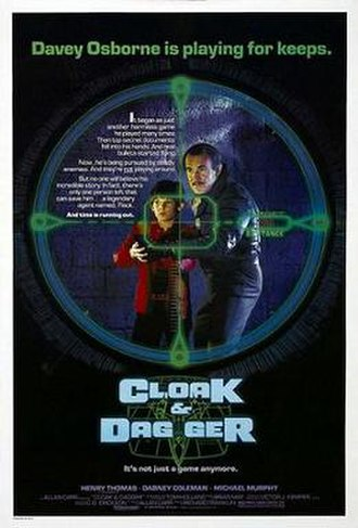 Cloak & Dagger (1984 film) - Theatrical release poster