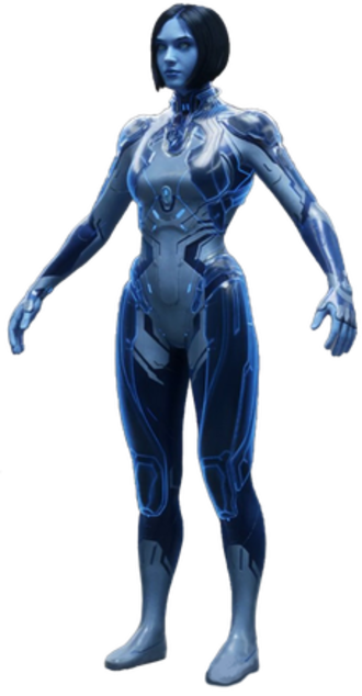 Cortana (Halo) - A render of Cortana's appearance in Halo 5 (2015)